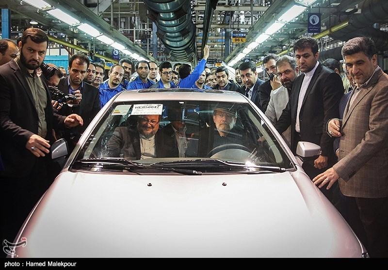 لاریجانی افتتاح خط تولید