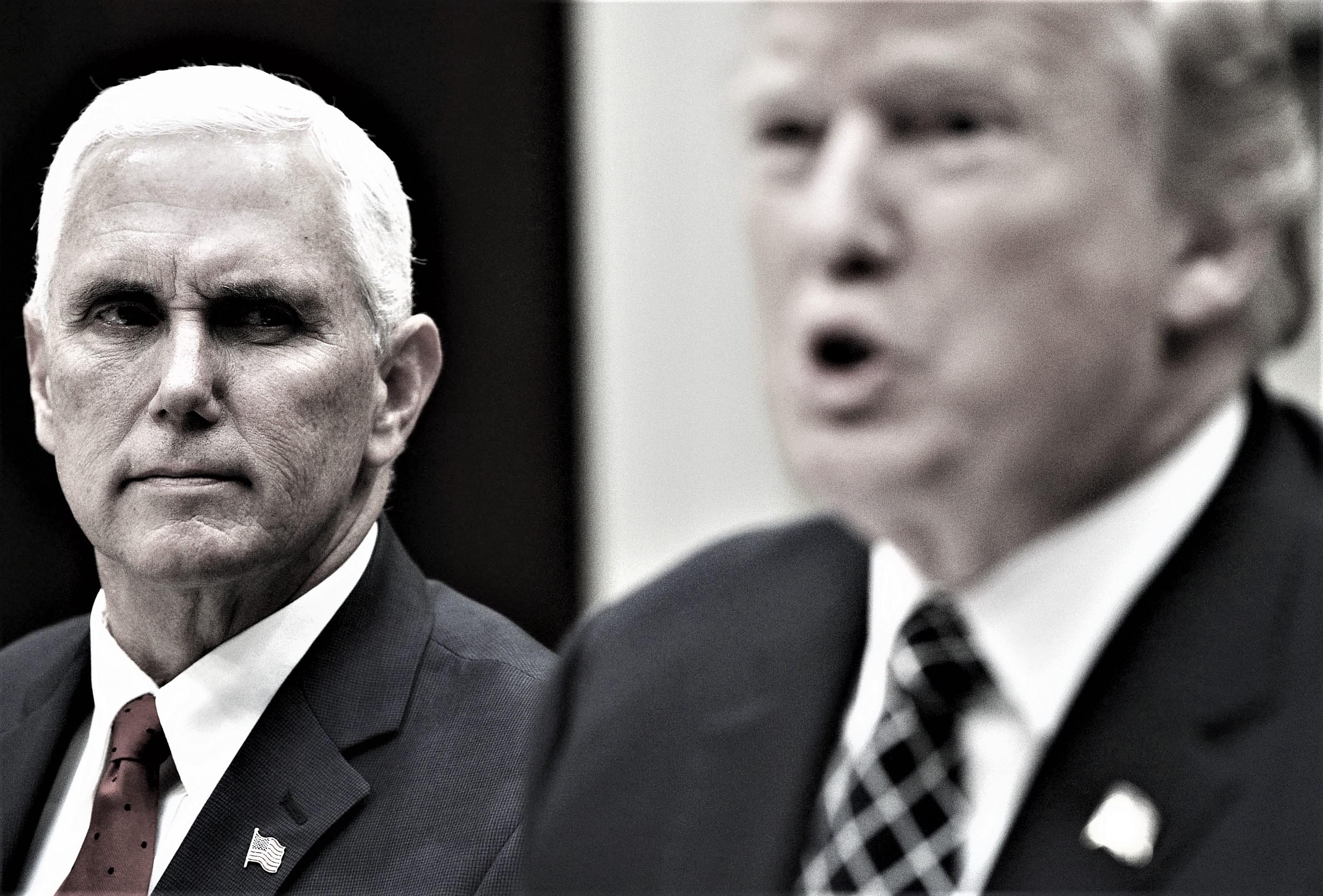 مایک پنس و دونالد ترامپ