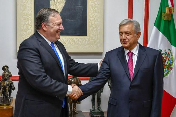 دیدار پامپئو و داماد ترامپ با رئیسجمهور مکزیک