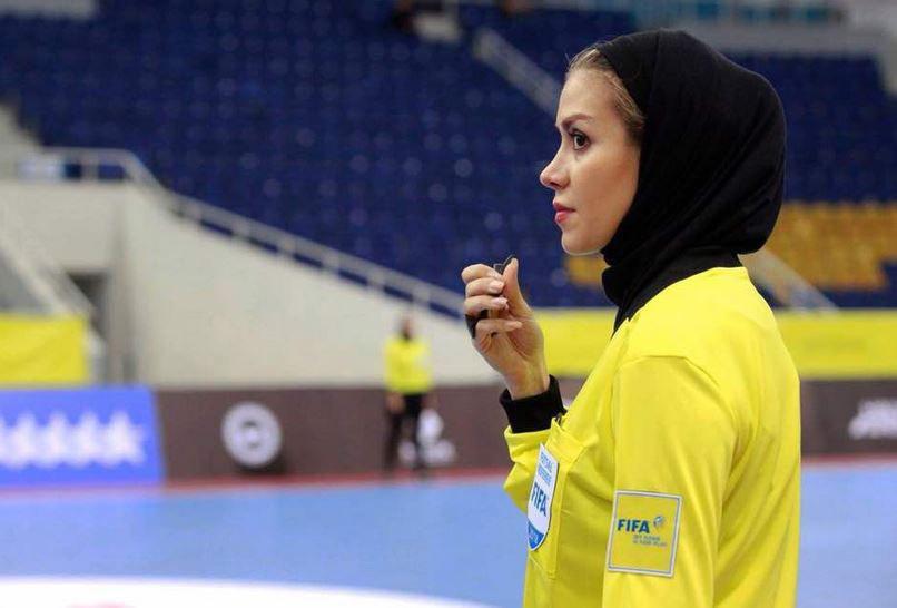 یک زن ایرانی داور فینال المپیک جوانان فوتبال شد گلاره ناظمی، افتخار تازه فوتبال ایران +عکس