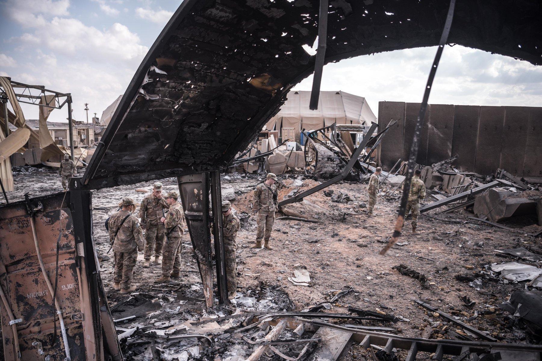 حمله موشکی ایران به پایگاه آمریکایی عینالأسد در عراق