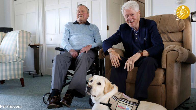 دیدار بیل کلینتون و جرج بوش پدر