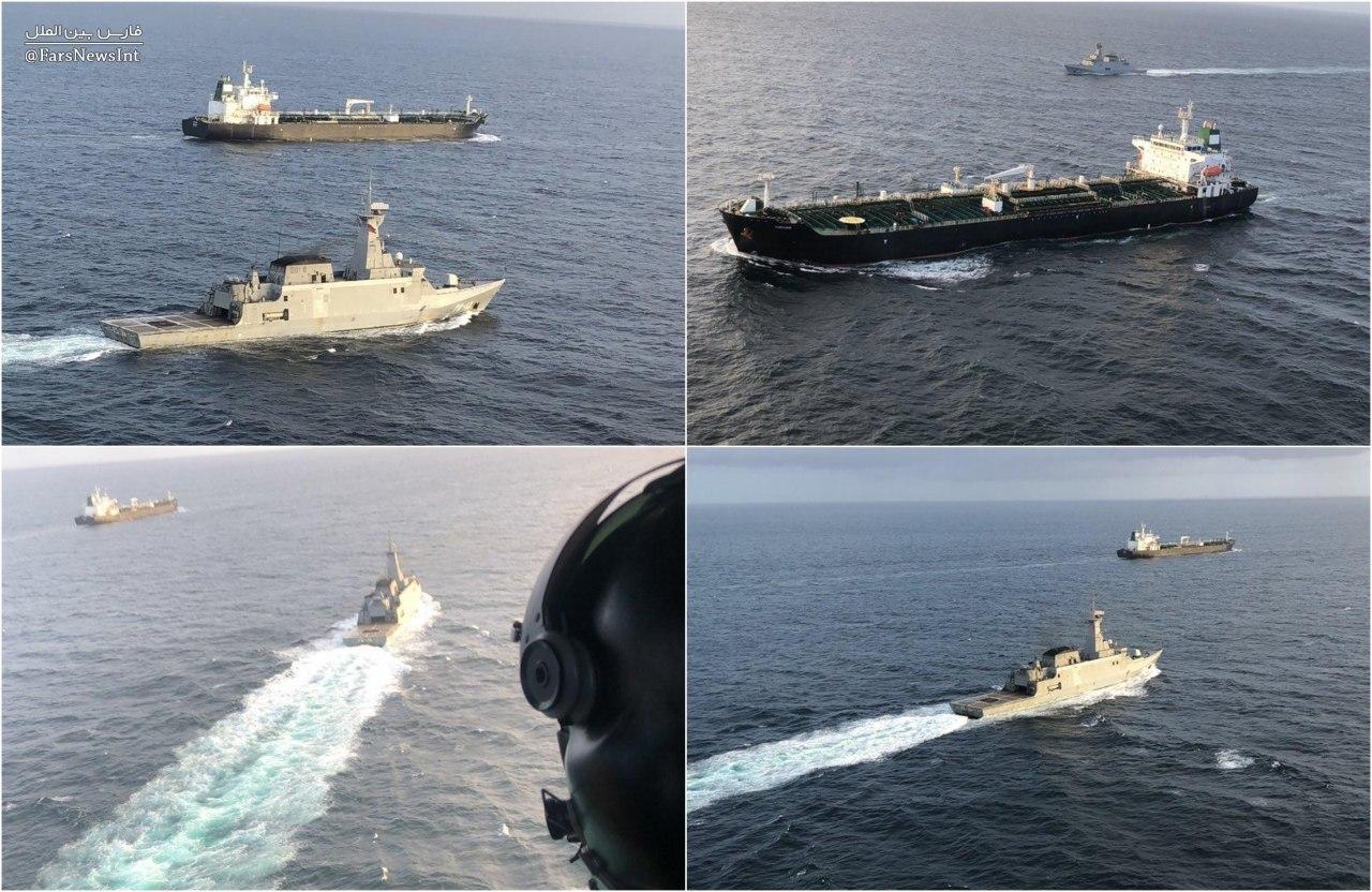 اسکورت نفتکش ایرانی Fortune توسط نیروی دریایی ونزوئلا از منطقه ویژه اقتصادی تا سواحل این کشور