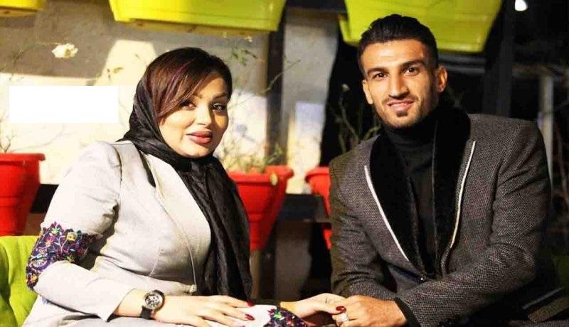 حسین ماهینی و همسرش