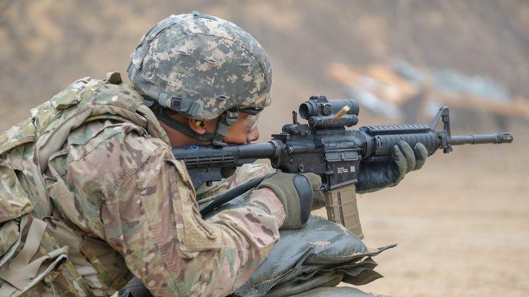 اسلحه سربازان ارتش آمریکا