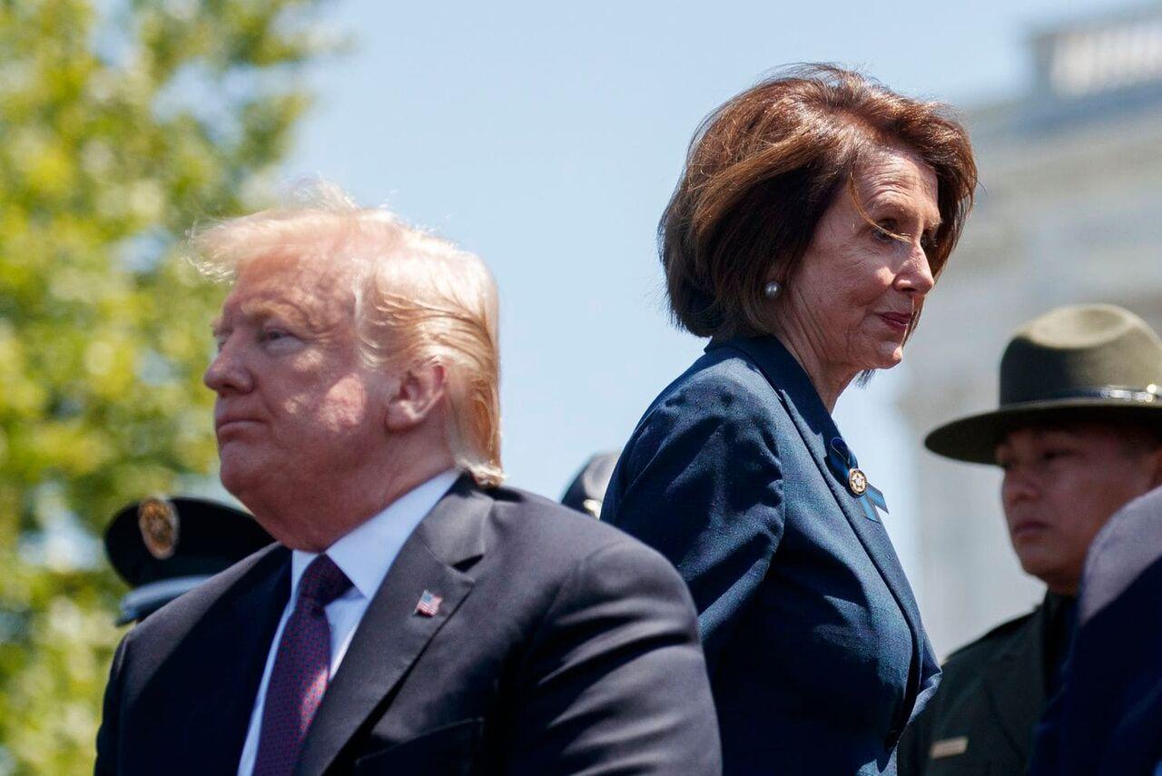 دونالد ترامپ و نانسی پلوسی
