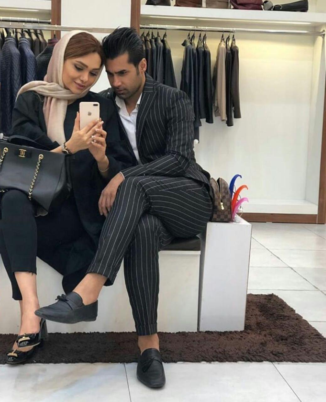 محسن فروزان و همسرش