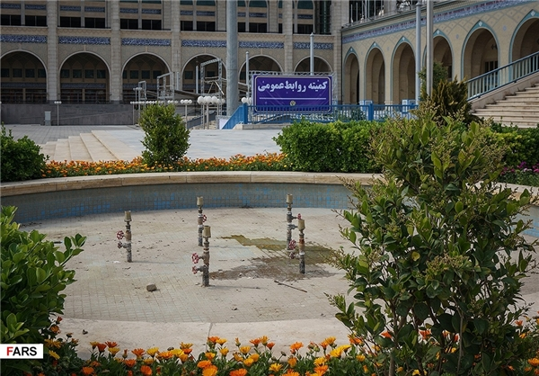 آماده سازی مصلی برای برگزاری نمایشگاه کتاب تهران