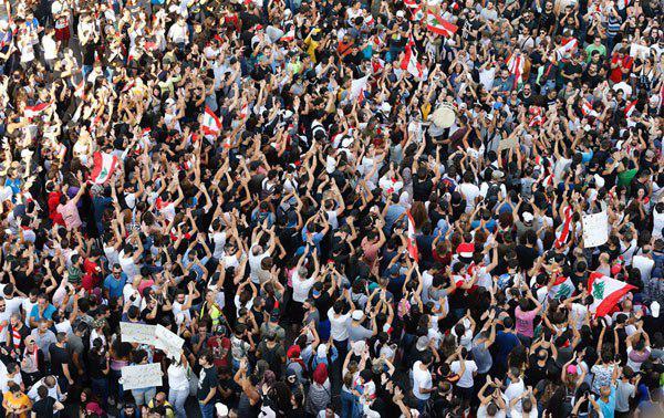 تصاویر منتخب اعتراضات لبنان