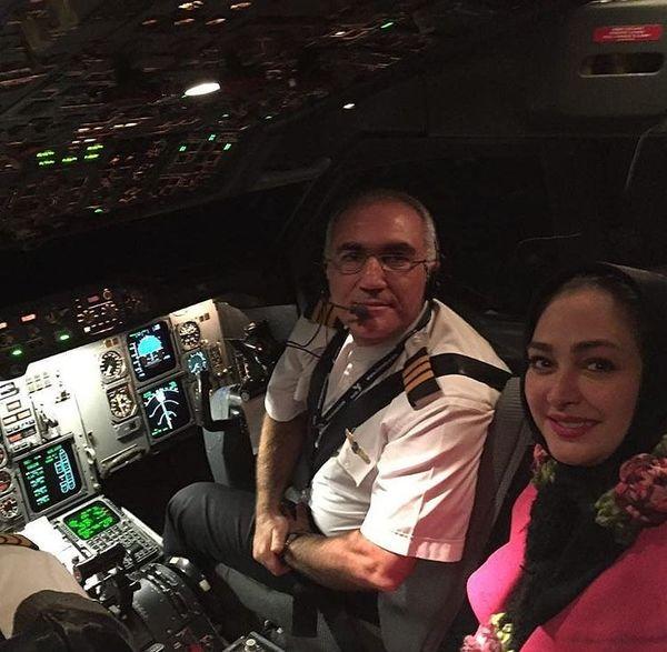 الهام حمیدی در کابین خلبان
