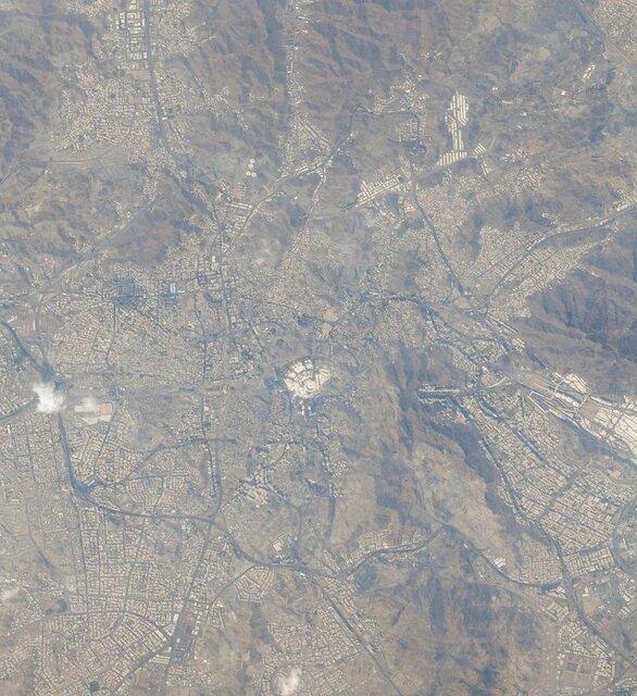 تصویر مکه از ایستگاه فضایی