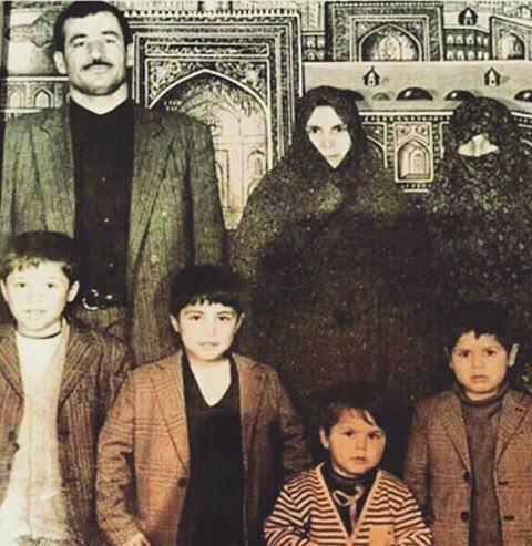 علی دایی و خانواده در کودکی