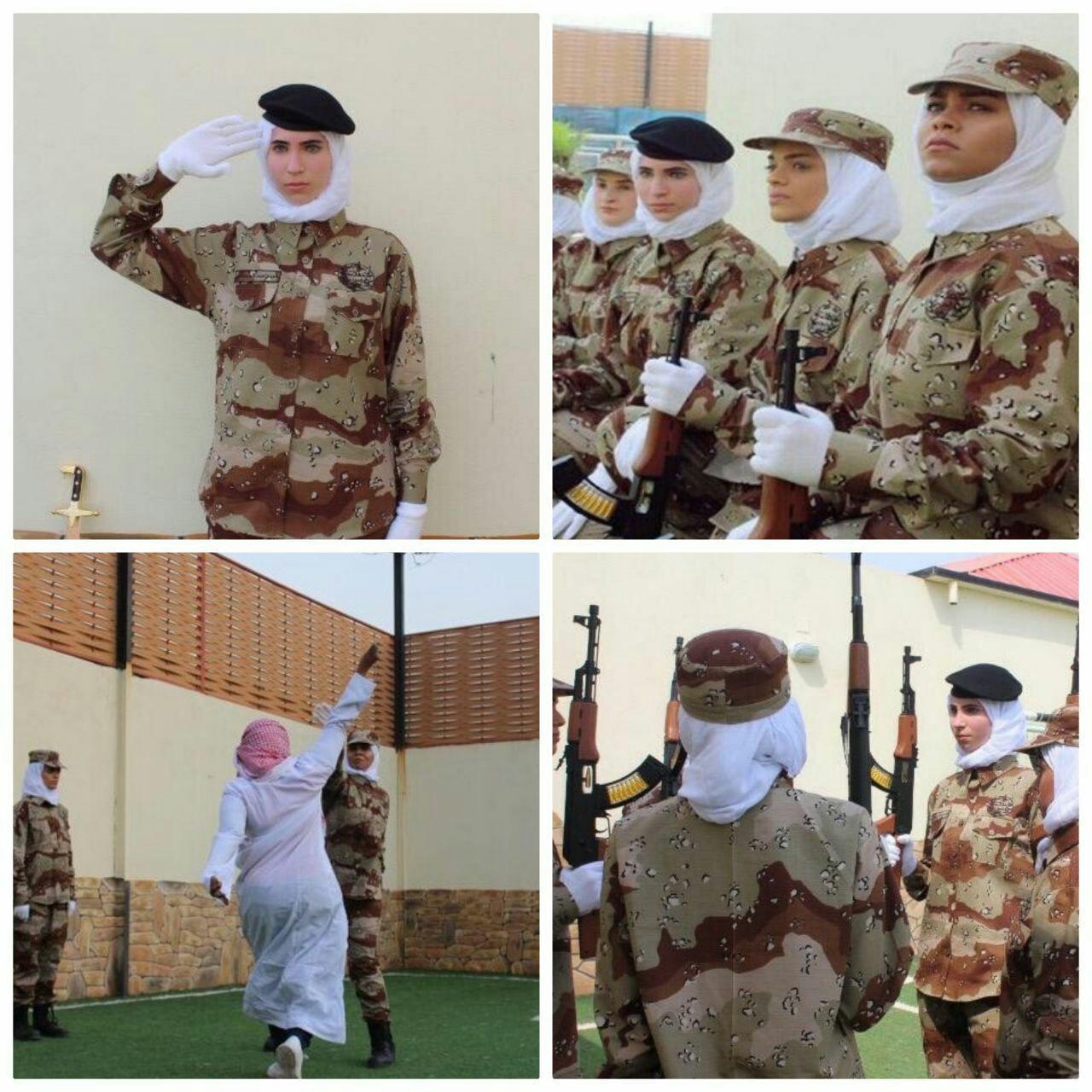 رژه نظامی زنان در عربستان