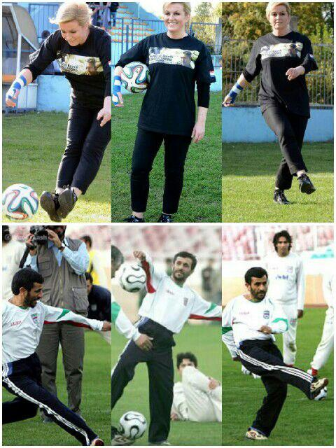 احمدی نژاد و رییس جمهور کرواسی