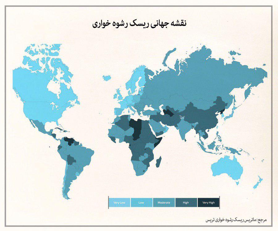 نقشه جهانی رشوه خاوری