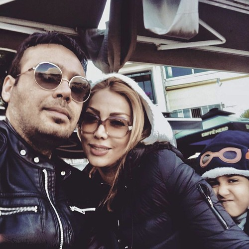 محسن چاووشی و همسرش