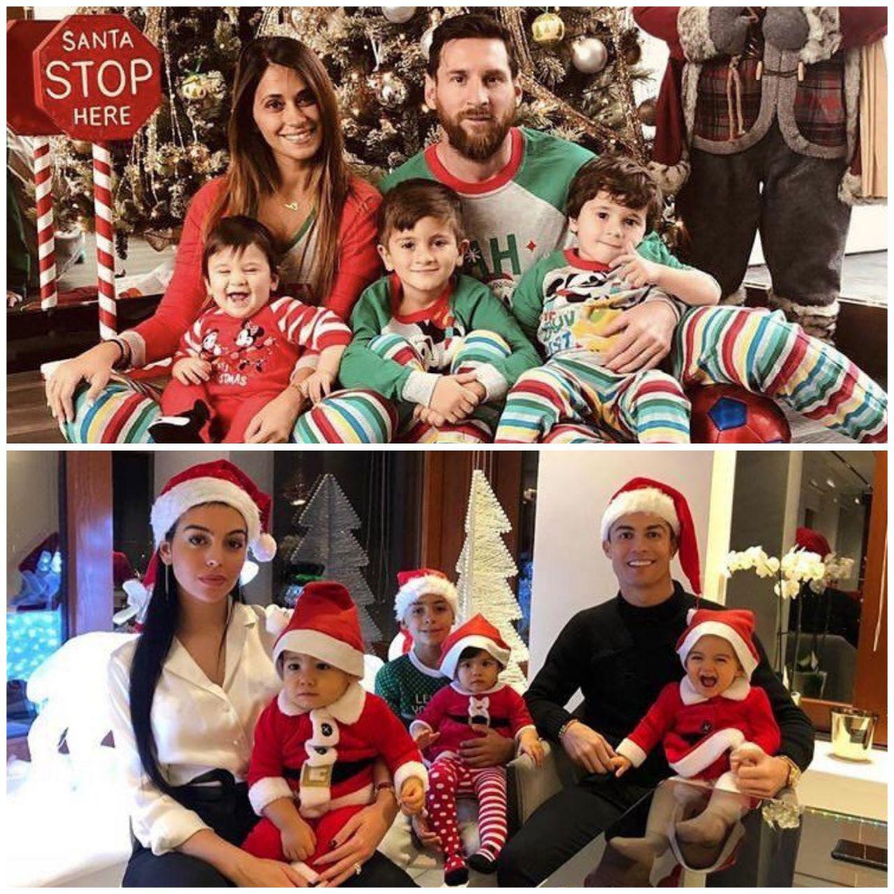 مسی و رونالدو در شب کریسمس