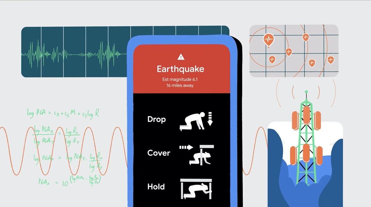 گوگل زلزله