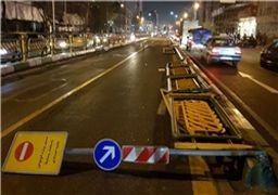 تخریب اموال عمومی در خیابان انقلاب در شب گذشته + عکس