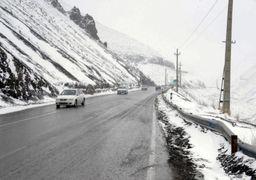 برف و باران جادههای استان تهران را فرا گرفت