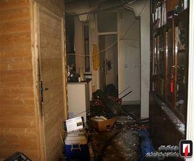 تصاویر آتشسوزی استودیوی ضبط صدا که ۲۰ شهروند را نجات می داد