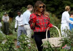 بدل همسر ترامپ او را در مراسم همراهی می کند؟ + عکس