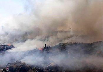 تصاویری از آتش سوزی در نزدیکی زندان قزلحصار
