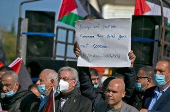 تظاهرات فلسطینیها در محکومیت تصمیم پامپئو برای بازدید از یک شهرک یهودینشین