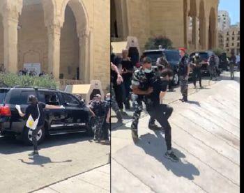 هواداران و مخالفان سعد الحریری در بیروت درگیر شدند
