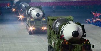ورود آمریکا به رژه نظامی کره شمالی