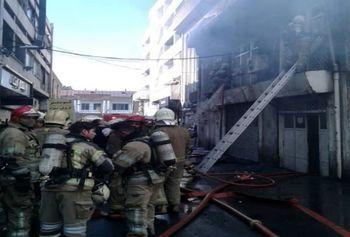 آتش سوزی در خیابان لاله زار