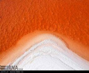 دریاچه ارومیه سرخ شد