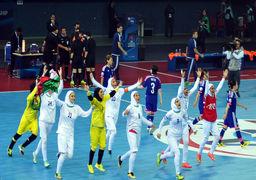 بانوان افتخار آفرین تیم ملی فوتسال صبح امروز وارد میهن شدند /فیلم