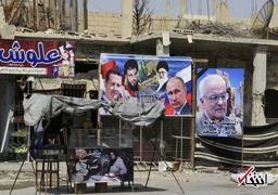 اهتزاز پرچم ایران و نصب تصویر رهبر انقلاب در دیرالزور سوریه + عکس