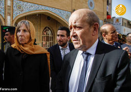 وزیر خارجه فرانسه در حرم امام علی (ع)