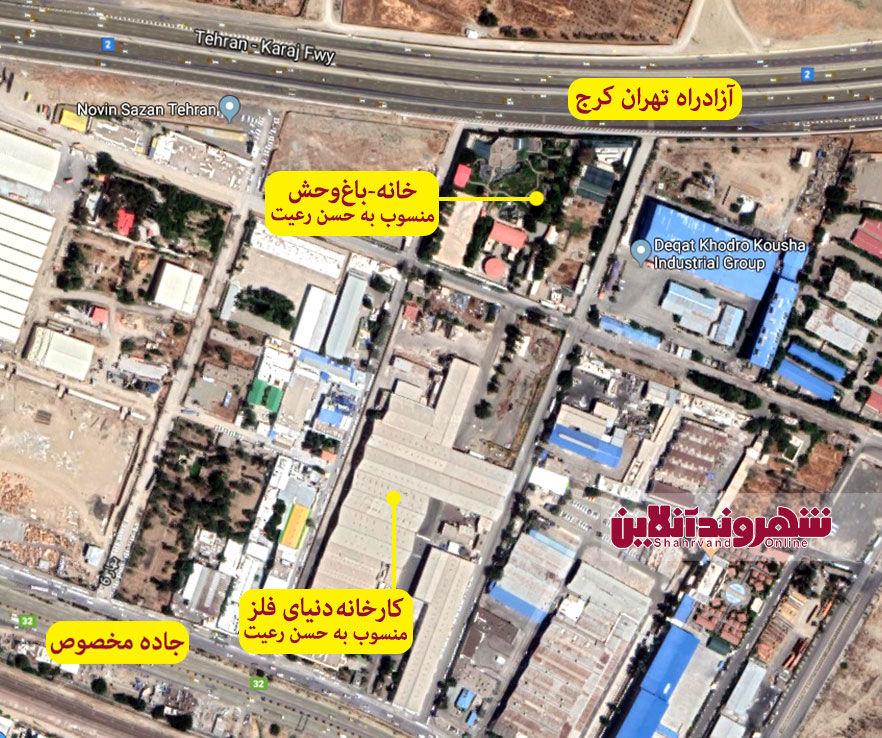 نقشه خانه حسن رعیت