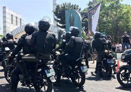 حضور یگان ویژه در تجمع استقلالی ها مقابل وزارتخانه