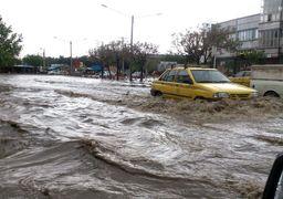 خیابانی شبیه به دریاچه در اهواز! + فیلم