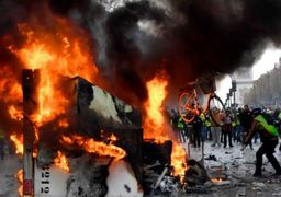 آخرین خبرها از اعتراضات فرانسه؛ یک پاسگاه پلیس محاصره شد/ تخریب مراکز تجاری و آتش زدن خودروها+تصاویر