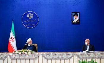 جدل لفظی روحانی و قالیباف در جلسه سران