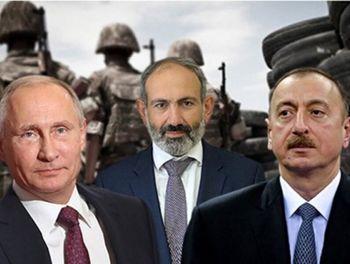 مذاکرات پوتین با علیاف و پاشینیان درباره اجرای توافق صلح