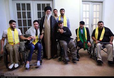 دیدار جانبازان حزب الله لبنان با رهبر معظم انقلاب