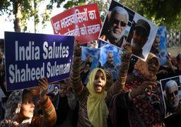 تصاویر تجمعِ هندیها در اعتراض به ترور سردارسلیمانی