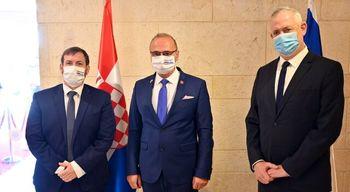 محور ضدایرانی دیدار وزیر جنگ رژیم صهیونیستی با وزیر امور خارجه کرواسی