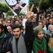 تظاهرات الجزایریها در اعتراض به برگزاری انتخابات