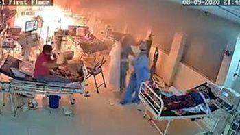 بخش آی سی یو محل بستری بیماران کرونایی آتش گرفت+ فیلم