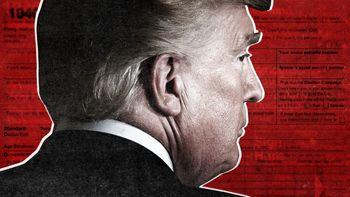 عکس عجیب ترامپ با شاخهای شیطانی