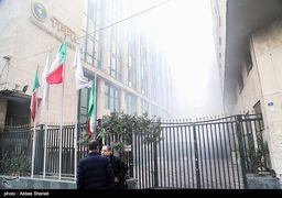 حریق در ساختمان برق حرارتی وزارت نیرو (1)