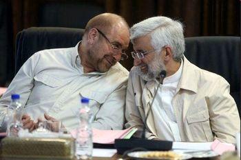 جلسه انتخاباتی جبهه پایداری با جامعه روحانیت مبارز/ رویارویی جالب جلیلی و قالیباف
