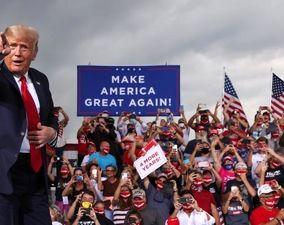 تصاویر| اقدام خطرناک کمپین انتخاباتی ترامپ